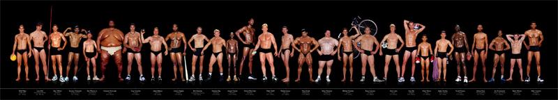 у каких спортсменов самая красивая фигура