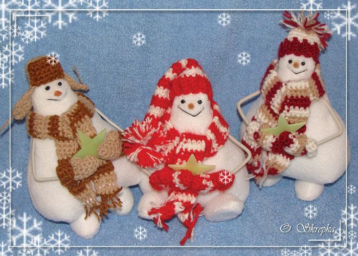 выкройка куклы тильда снеговик.
