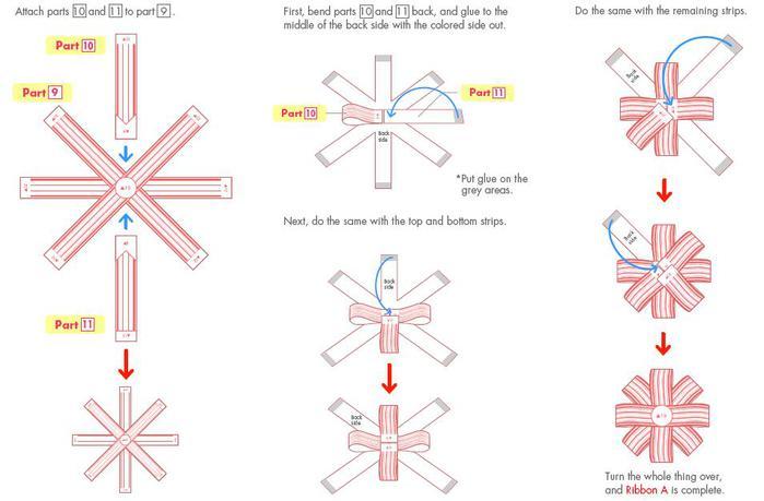 Как сделать бант на коробку из бумаги