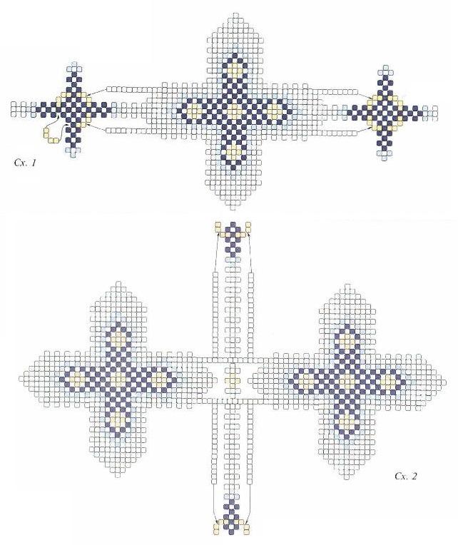 Крестик из бисера / Кулоны и подвески, Пасхальные изделия.  Схемы и фото пасхальных яиц оплетенных бисером Как...