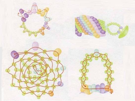 Радужные браслеты 3 вида.