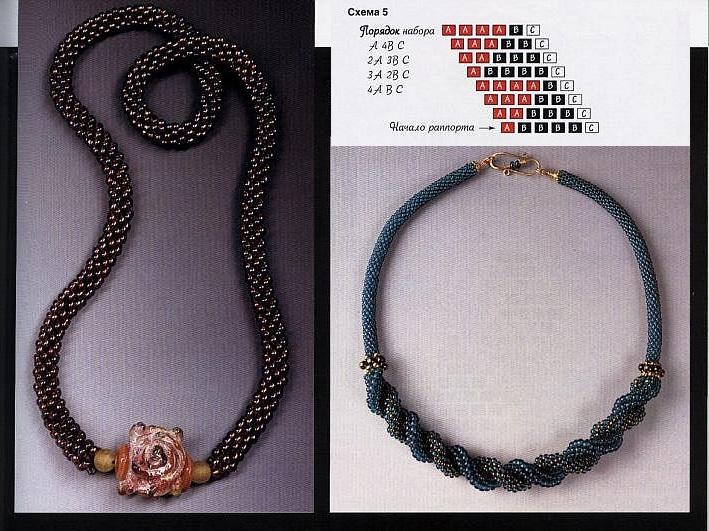 бисер схемы. схема плетения из бисера спирального жгута. изготовление розы из бисера. розы из бисера мк...
