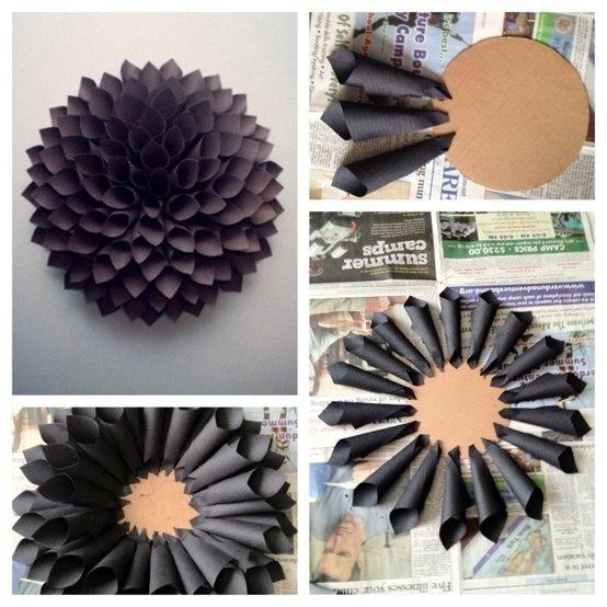 Как сделать бумажный цветок своими руками фото