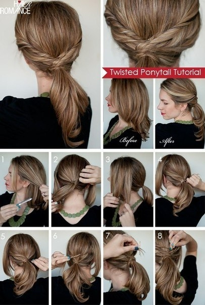 Бантик из волос: