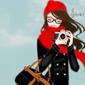 Девушка в красной беретке