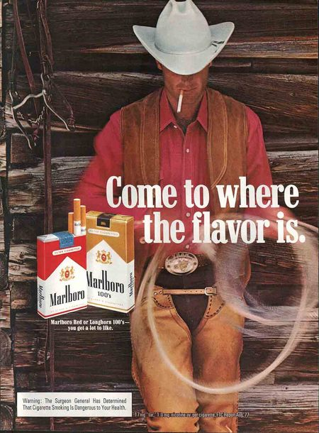 an analysis of the old commercials bugs bunny and the marlboro man