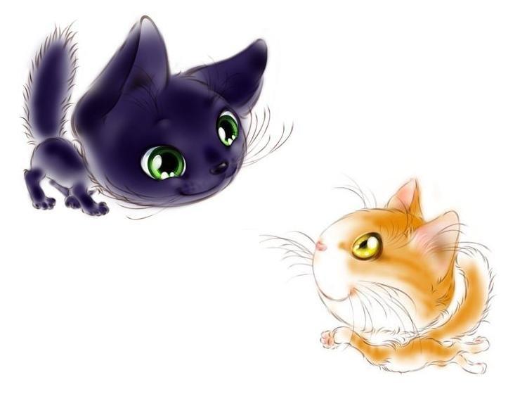 Рисунок котиков милашек