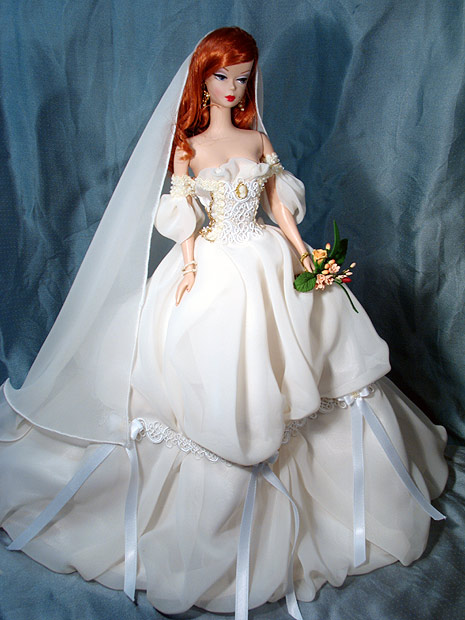 Платья свадебное для куклы барби своими руками