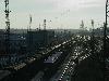 Индустриальный пейзаж крупного транспортного уз...
