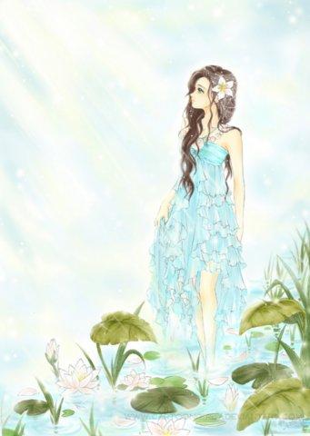 Красивый аниме арт