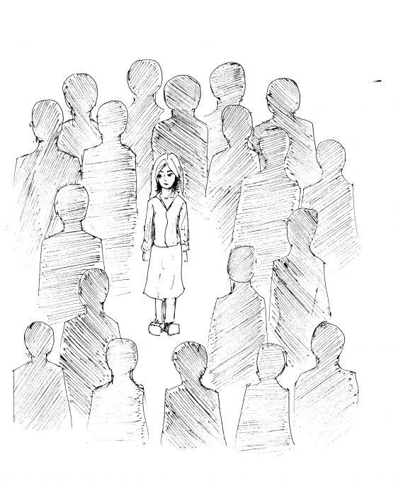 Как рисовать толпа людей