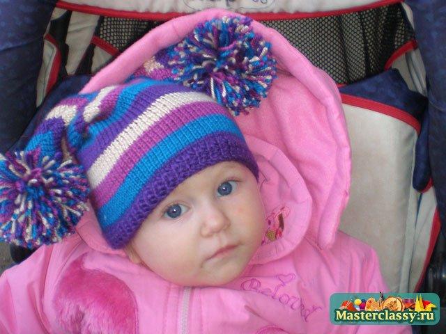 Вязание Шапок Спицами Для Детей