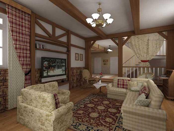 популярна спальня в стиле кантри.