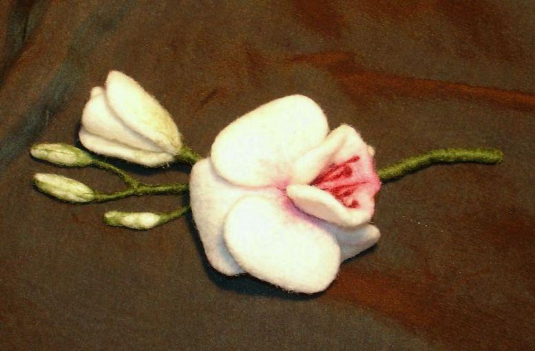 Орхидеи из кожи своими руками мастер класс 100
