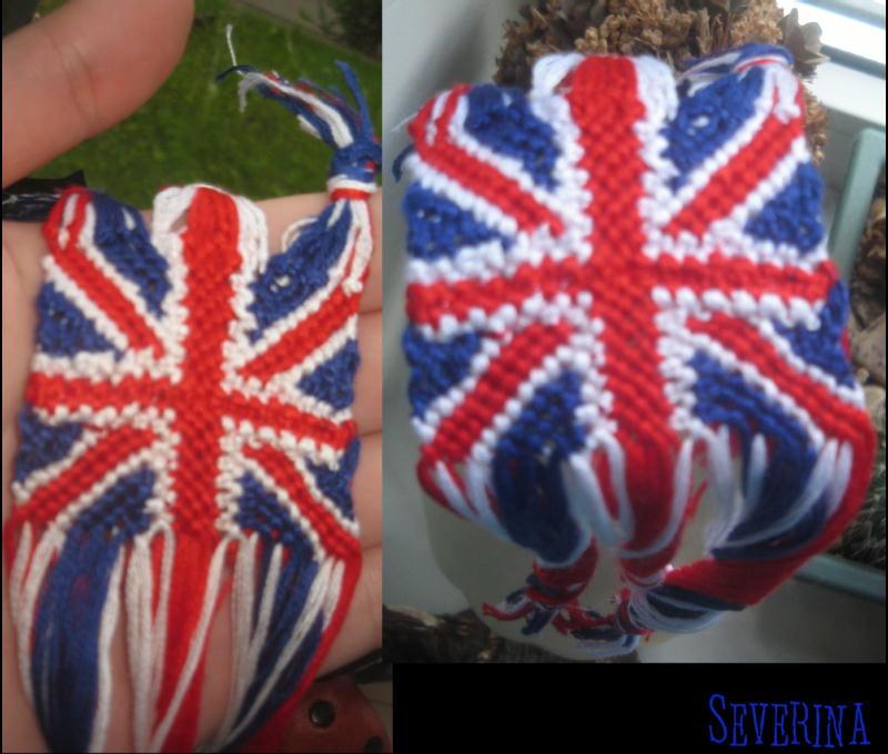 схема фенечки британский флаг.