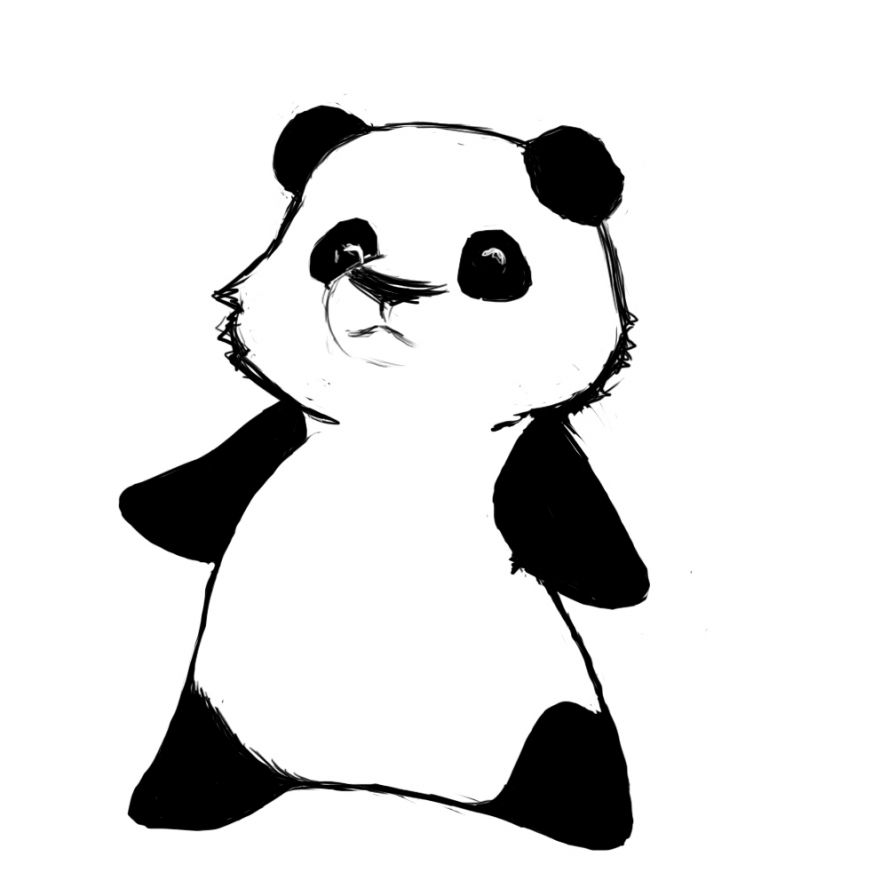 Cute chibi panda