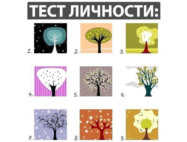 следует психологический тест просто выбери дерево нежные