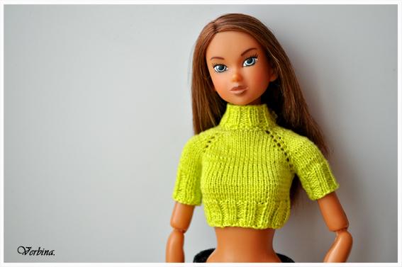 Вязание реглана на куклу