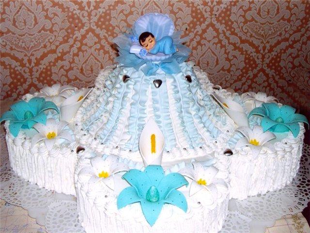 3 раз. детские торты ко дню рождения и на крестины.