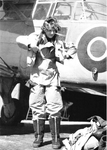 Wren Radio Mechanic prepares for a flight to test newly fitted equipment