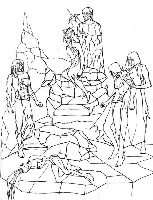 Амла, пещерные жители