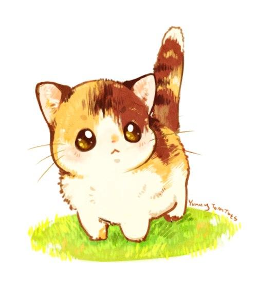 Фото нарисованные котики картинки