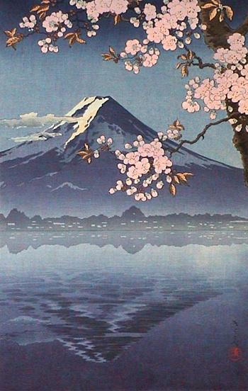 Весна акварели япония