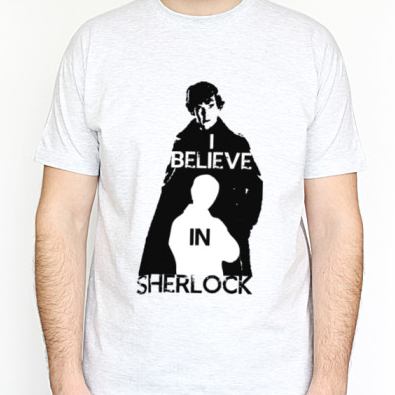 Футболка I believe in Sherlock на 4u.printdirect.ru