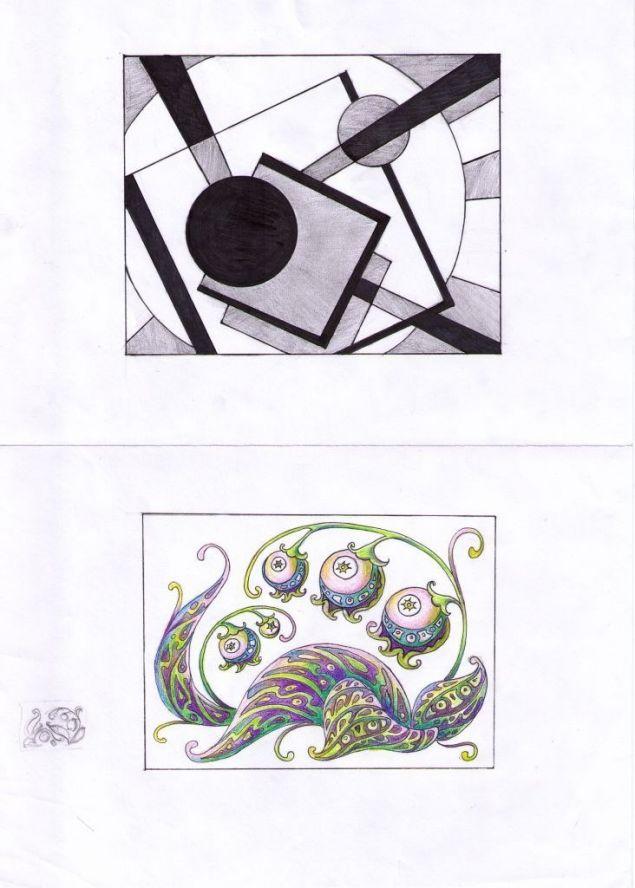 компазиция рисунка