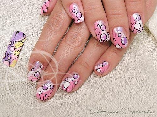 дизайн на коротких ногтях фото: