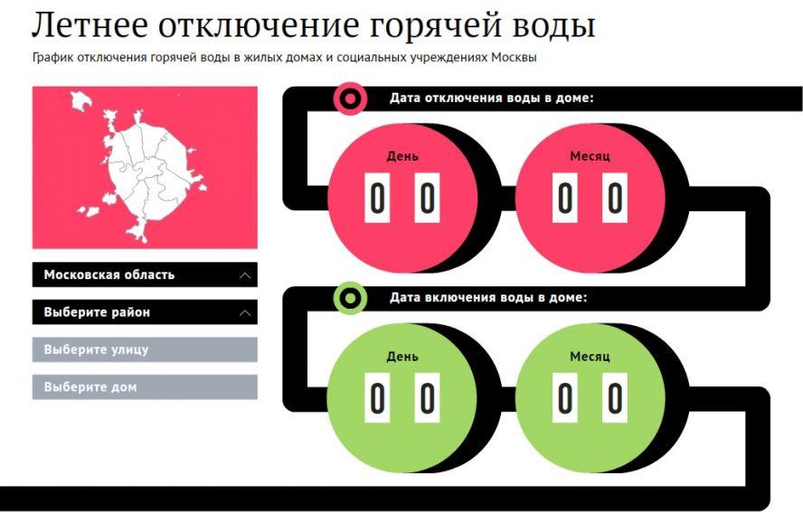 График отключения горячей воды в Москве в 2017 году