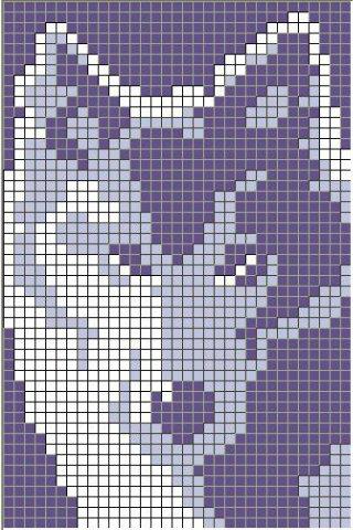 Опубликовано Uzor в Схема плетения фенечки - Схема вышивания крестом - Белый волк.  Плетение.
