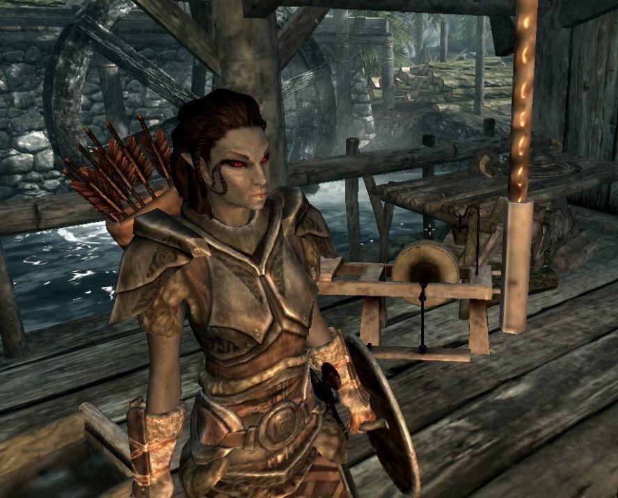 Меховая секси броня в skyrim