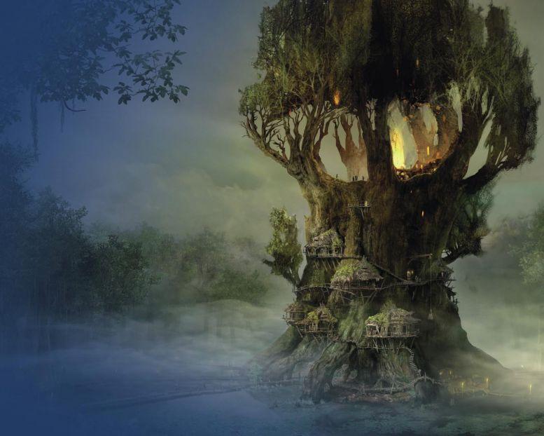 Сказочное дерево обои для рабочего стола