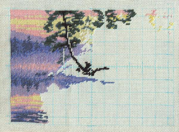 Схема вышивки утро на озере 48