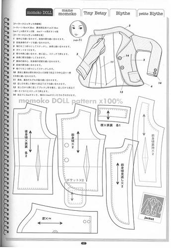 Описание: выкройки пиджака, Вязание туники.