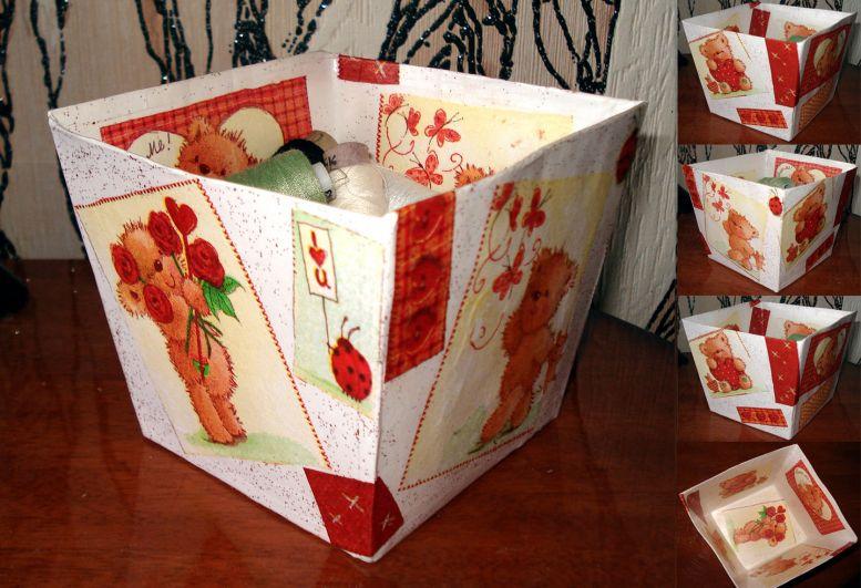 Своими сделать руками коробку шкатулку как