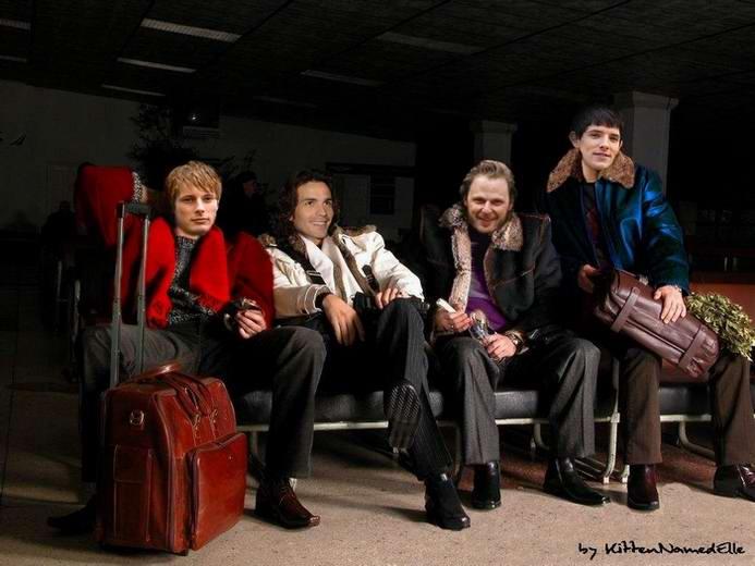 handsome men of camelot on leave