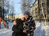 С подругой Маськой, зима 2007