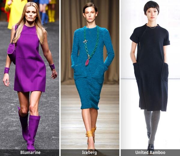 Платья а-силуэта с чем носить