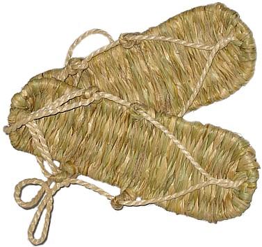 варадзи, японская плетеная обувь.