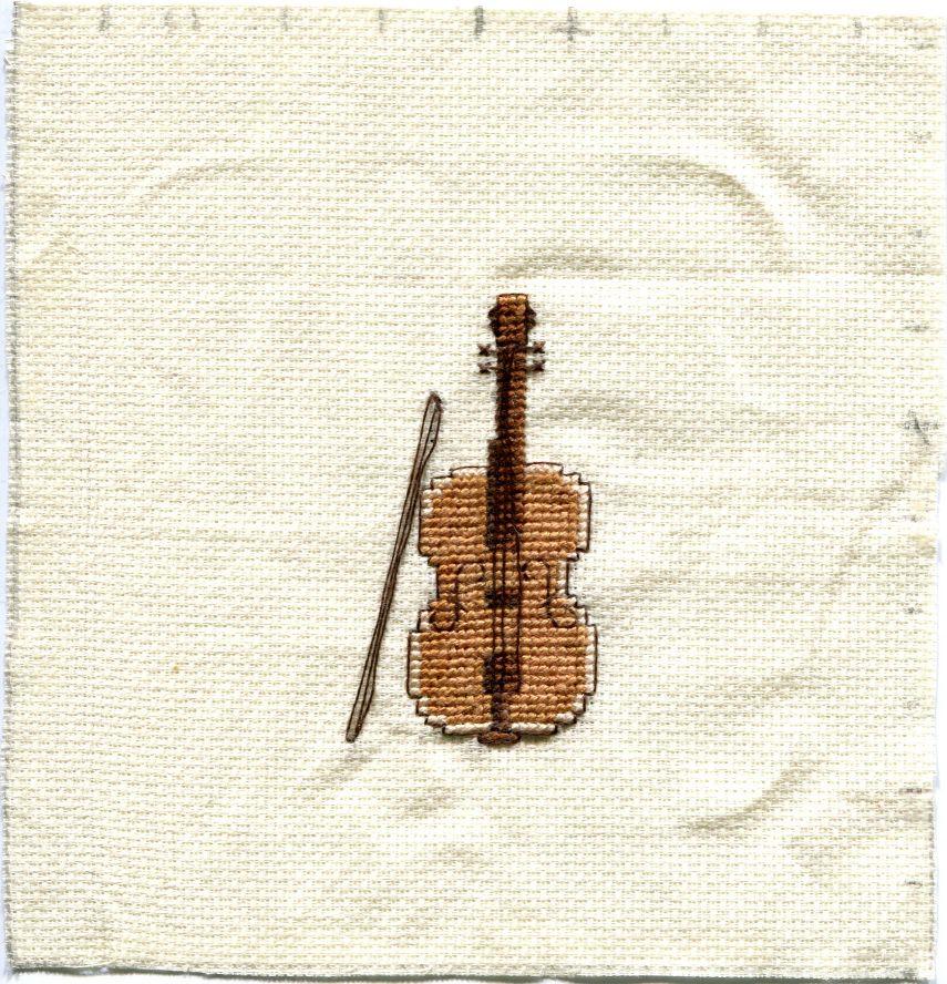 Скрипка схема для вышивки 65