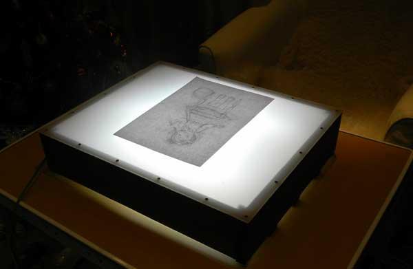 Стол с подсветкой для копирования своими руками