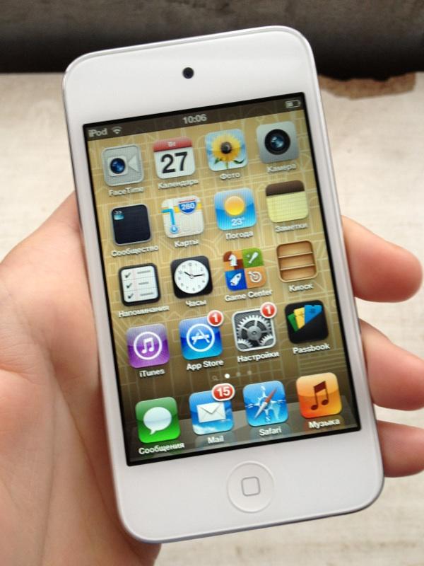Продам iPod Touch 4 8GB белый Состояние идеальное Не взломанный, ПО обновле