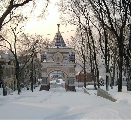 Зимний владивосток