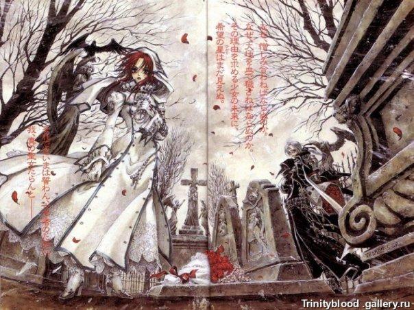 картинки аниме с кровью: