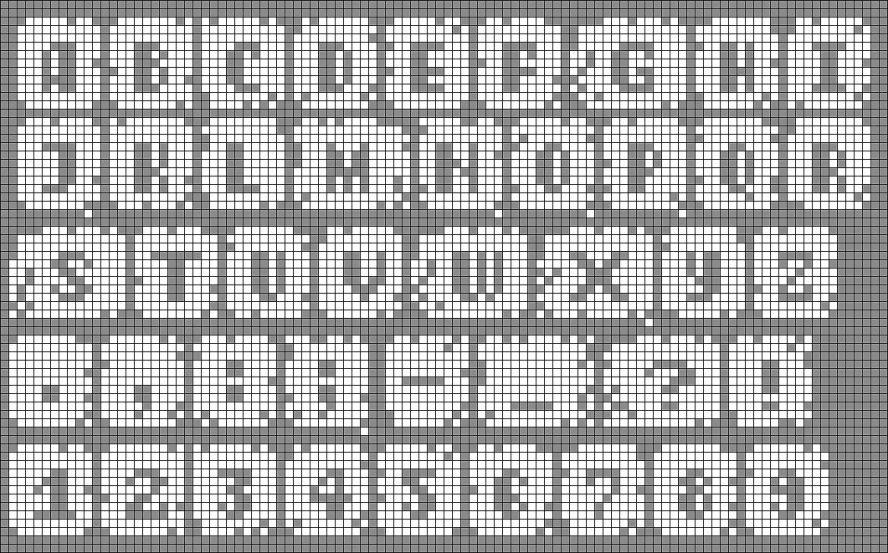 Схемы прямого плетения буквы