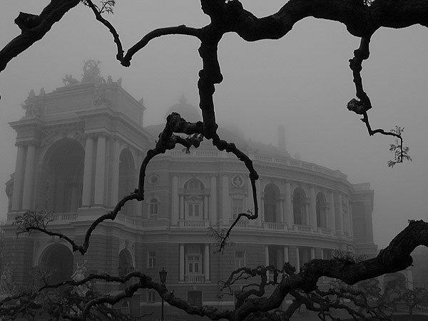 Оперный театр в Одессе осенью. Хочу туда в такую погоду