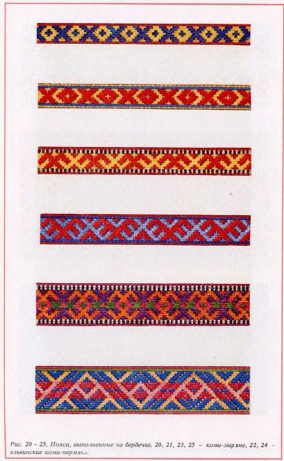 89Орнамент для вышивки на поясе