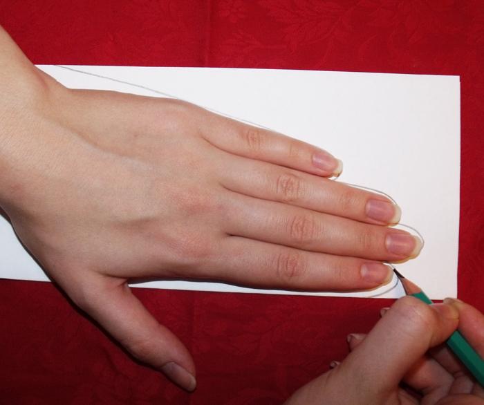 выкройка перчаток без пальцев.